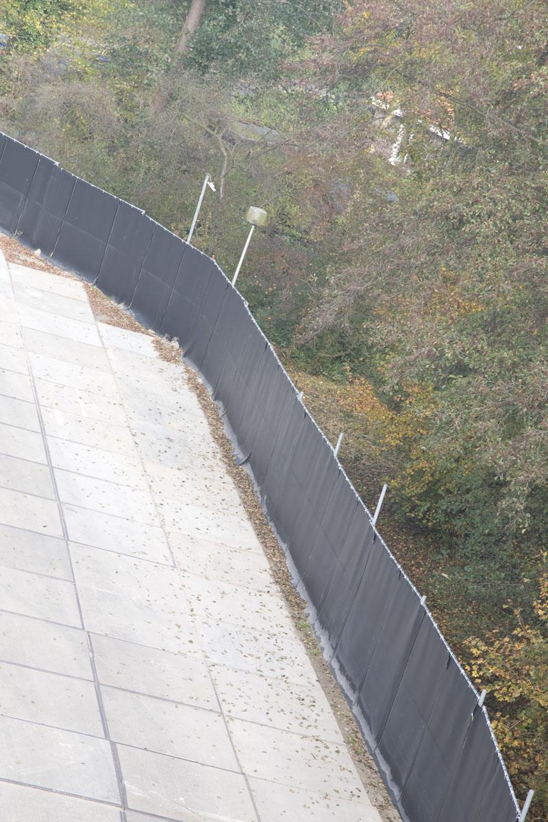 Geluidsscherm van Acoustiblok voor het afschermen van bouwlawaai in gouda
